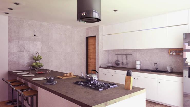 COCINA: Cocinas equipadas de estilo  por TECTONICA STUDIO SAC,