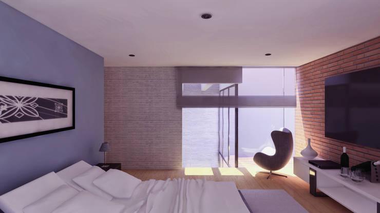 DORMITORIO: Dormitorios de estilo  por TECTONICA STUDIO SAC,