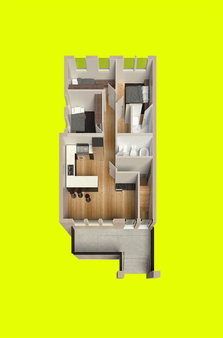 Dormitorios de estilo  de Alexander Chivico, Moderno Madera Acabado en madera