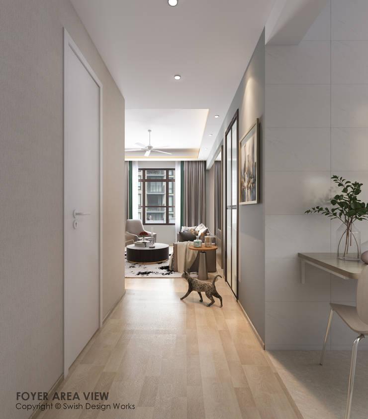 Foyer Modern corridor, hallway & stairs by Swish Design Works Modern