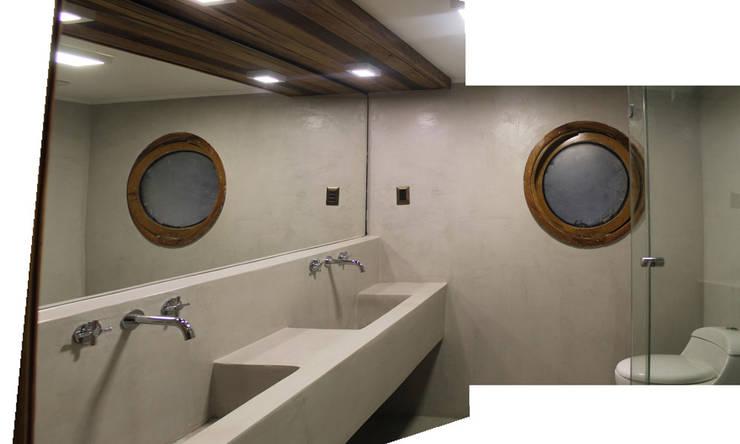 Baños de estilo  de Vetas Sur, Minimalista Hormigón