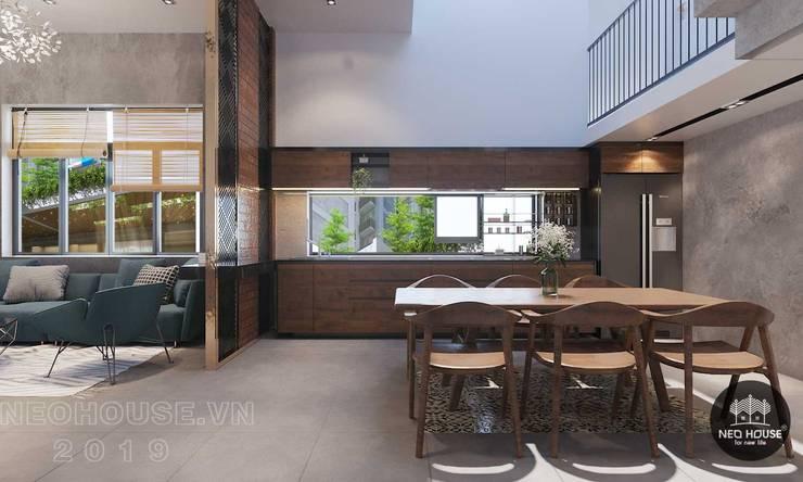 Thiết kế thi công nội thất biệt thự phố 3 tầng tại quận 12:  Kitchen by NEOHouse,