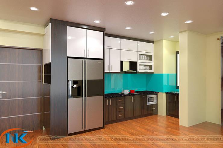 Lý do nên sử dụng tủ bếp acrylic vân gỗ với phong cách hiện đại:   by Nội thất Nguyễn Kim,
