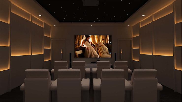 Media room by De Panache  - Interior Architects,