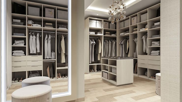Dressing room by De Panache  - Interior Architects,