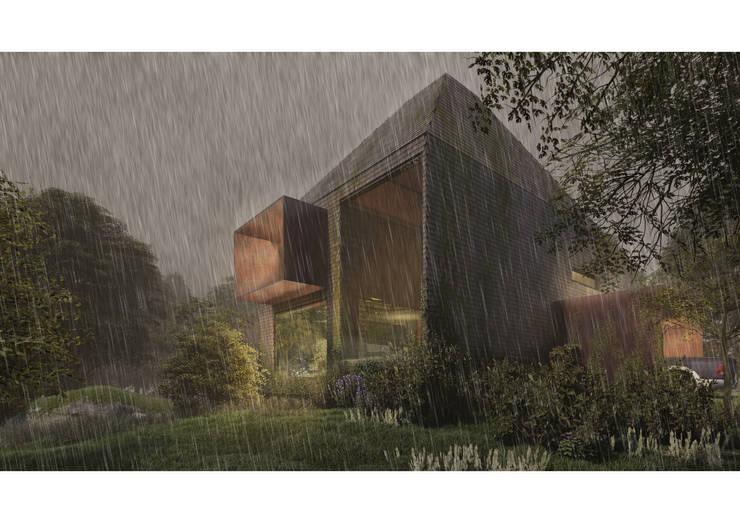 Fachada 01: Casas de estilo  por Zenobia Architecture,
