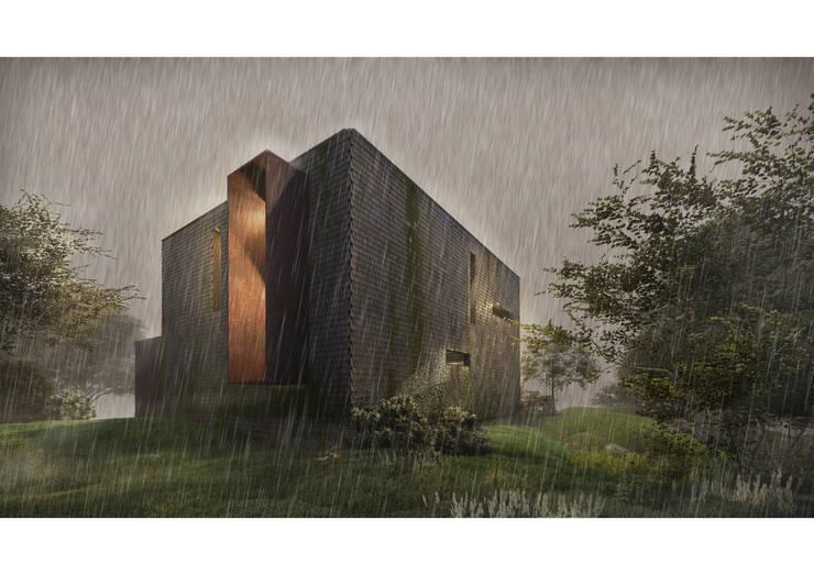 Casa CL - Fachada 03: Casas de estilo  por Zenobia Architecture,