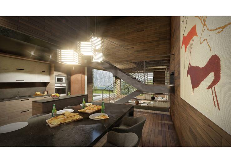 Casa CL - Interior 03: Comedores de estilo  por Zenobia Architecture,