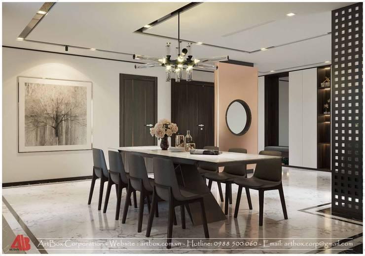 Thiết kế nội thất chung cư Diamond:  Dining room by Thiết Kế Nội Thất - ARTBOX,
