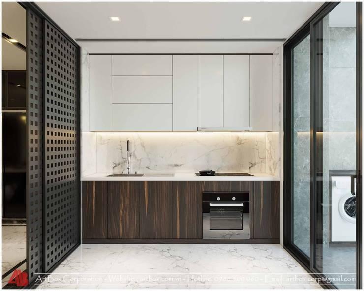 Thiết kế nội thất chung cư Diamond:  Kitchen by Thiết Kế Nội Thất - ARTBOX,