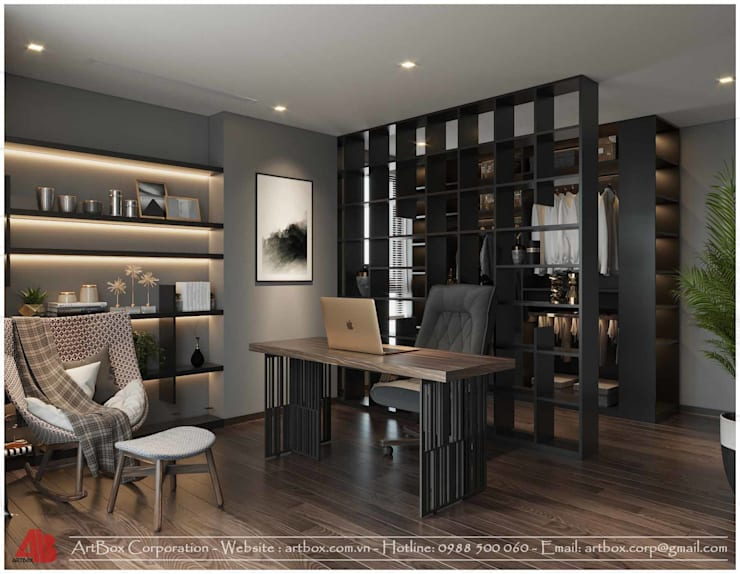 Thiết kế nội thất chung cư Diamond:  Study/office by Thiết Kế Nội Thất - ARTBOX,