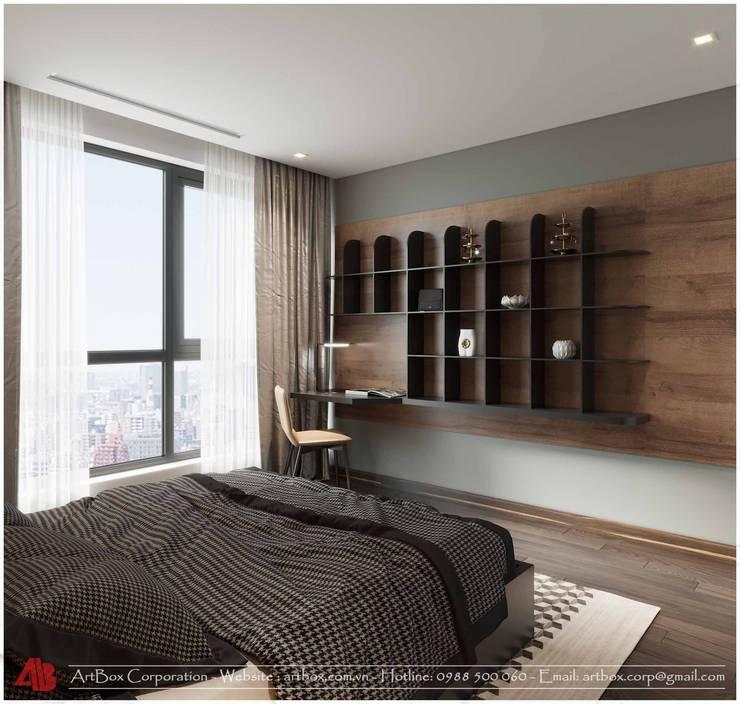 Thiết kế nội thất chung cư Diamond:  Bedroom by Thiết Kế Nội Thất - ARTBOX,