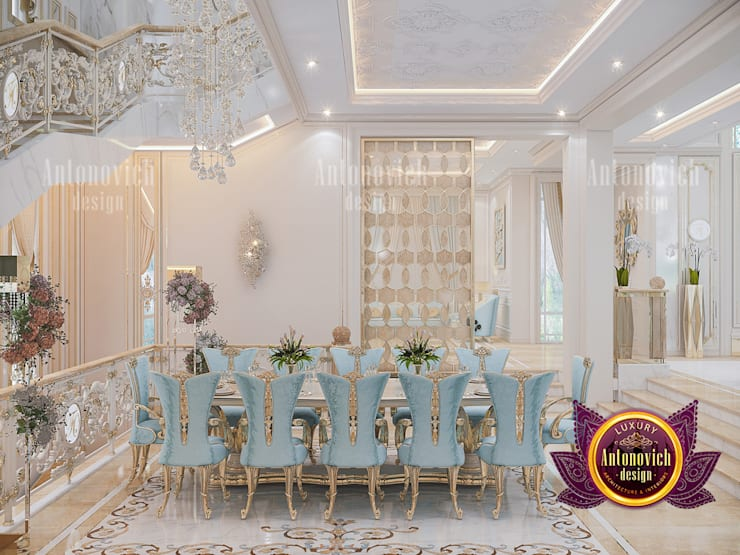 How To Decorate A Luxurious Royal Dining Room:   by Luxury Antonovich Design,
