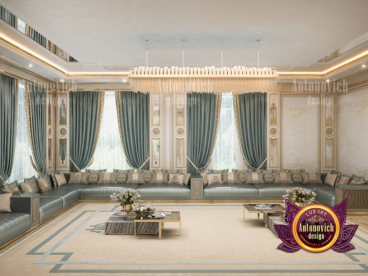 How to Luxuriously Decorate Your Living Room :   by Luxury Antonovich Design,