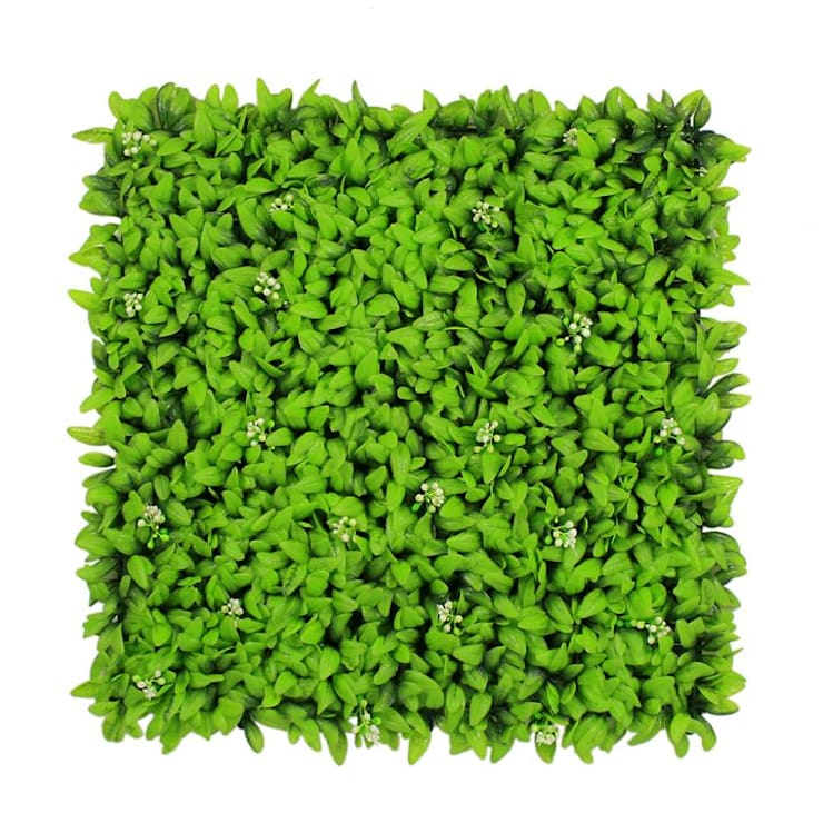 Uland Faux Hedge Panels with Jade Leaves A040:  Interior landscaping by Ulandhedge,