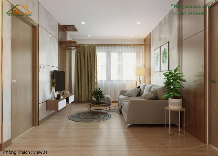 THIẾT KẾ NỘI THẤT HIỆN ĐẠI CHUNG CƯ BOOYOUNG:   by Công ty CP kiến trúc và xây dựng Eco Home,