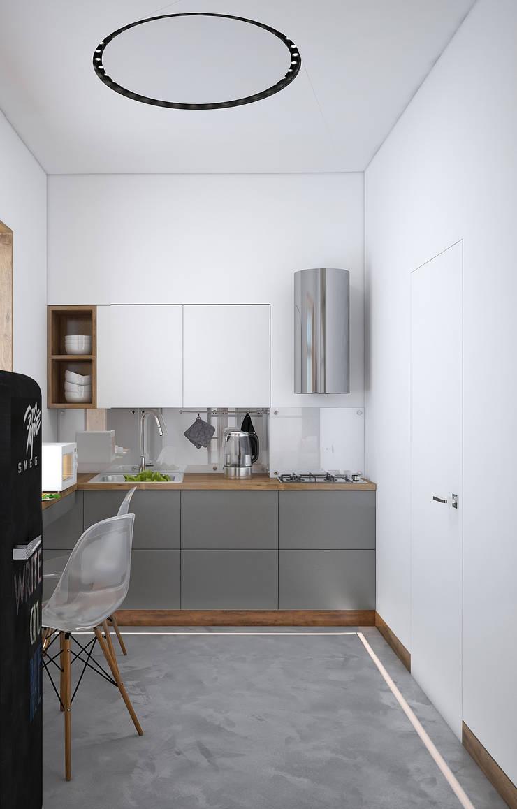 Industrial style kitchen by «Студия 3.14» Industrial