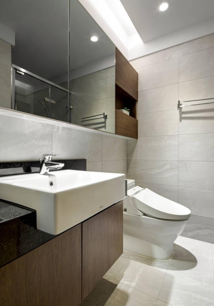 靜謐禪風-安居時光:  浴室 by 森活館室內裝修有限公司,