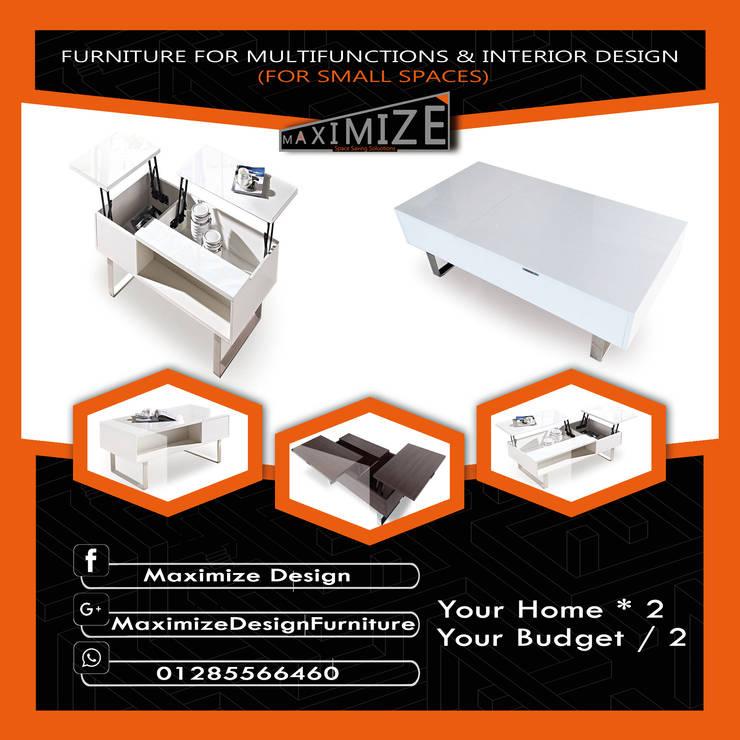 حلول المساحات الصغيرة:  تصميم مساحات داخلية تنفيذ Maximize Design,