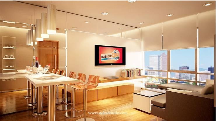 Living Room: Ruang Keluarga oleh ADEA Studio,