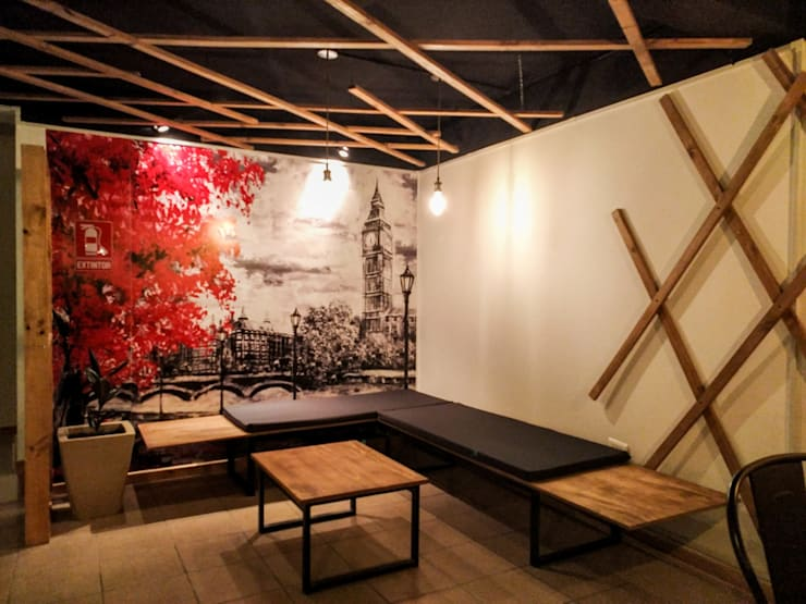 Remodelación local comercial - Cafe Dí María:  de estilo  por Umbral Arquitectura,