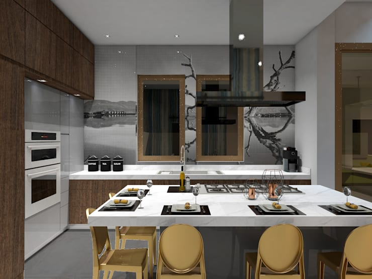 Built-in kitchens by A.DESIGN,