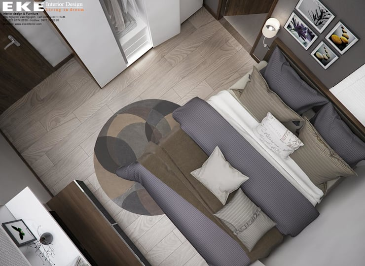 Thiết kế nội thất nhà phố Bình Thạnh diện tích 240m2:  Interior landscaping by EKE Interior,