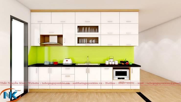 Combo mẫu tủ bếp gia đình chữ I giá từ 20 triệu đồng:   by Nội thất Nguyễn Kim,