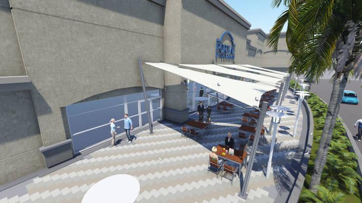 Proyecto Cubierta Tensada: Galerías y espacios comerciales de estilo  por D&D Arquitectura,