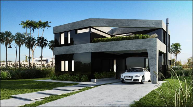190: Casas de estilo  por Maximiliano Lago Arquitectura - Estudio Azteca,Moderno