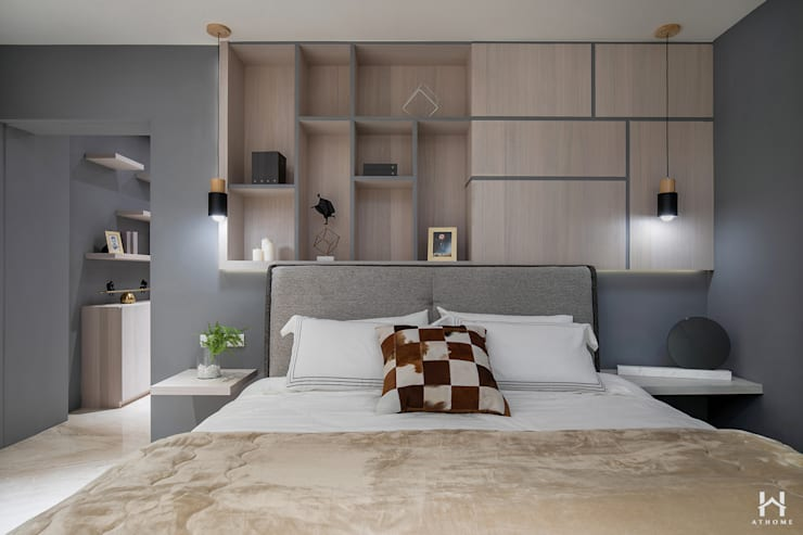Bedroom by 在家空間設計, Modern Solid Wood Multicolored