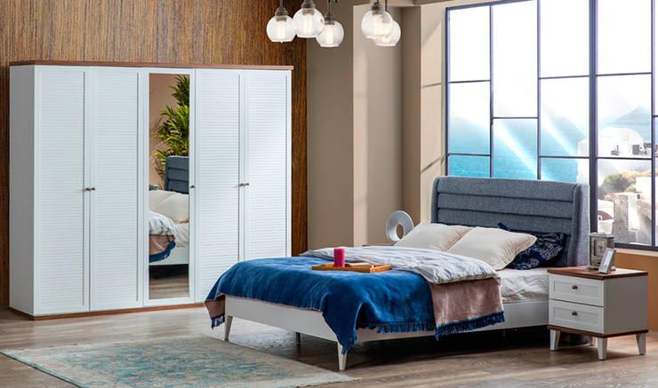 YILDIZ MOBİLYA – Başak Country Yatak Odası - 5 Kapılı: modern tarz , Modern