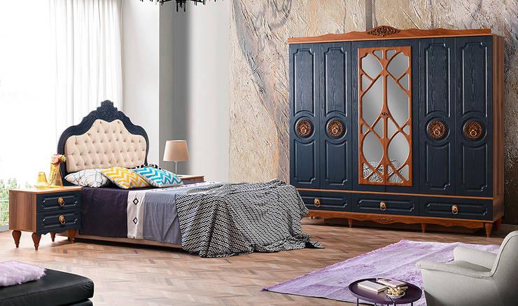YILDIZ MOBİLYA – Tempo Mdf Yatak Odası: modern tarz , Modern
