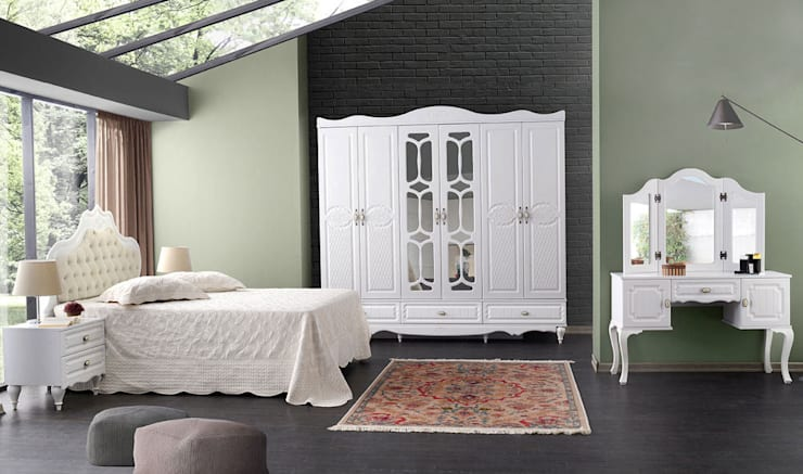 YILDIZ MOBİLYA – Beyoğlu Mdf Yatak Odası: modern tarz , Modern