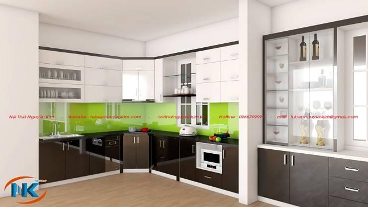 Combo mẫu tủ bếp acrylic đa dạng màu sắc hiện đại:   by Nội thất Nguyễn Kim,