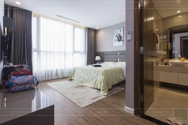 CĂN HỘ HIỆN ĐẠI – LỰA CHỌN CHUẨN CHO GIA ĐÌNH THÀNH THỊ!:  Phòng ngủ by ICON INTERIOR,