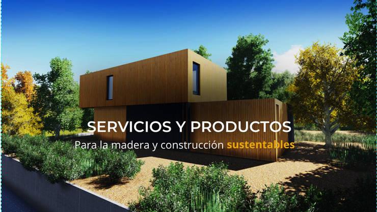 Construcción Sustentable Industrializada:  de estilo  por QuimeraWorks,