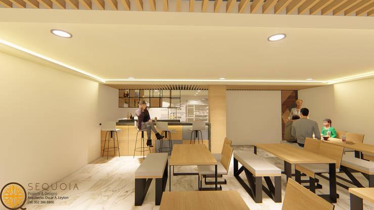 DISEÑO Y REMODELACION RESTAURANTE JERONIMOS: Comedor de estilo  por SEQUOIA. Projects & Designs,
