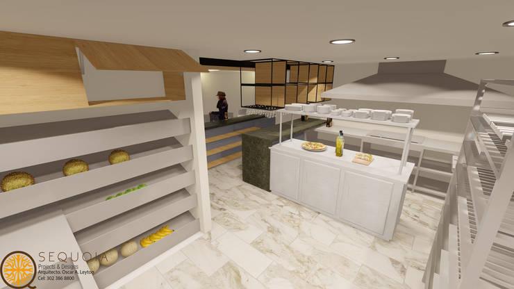 DISEÑO Y REMODELACION RESTAURANTE JERONIMOS: Cocina de estilo  por SEQUOIA. Projects & Designs,
