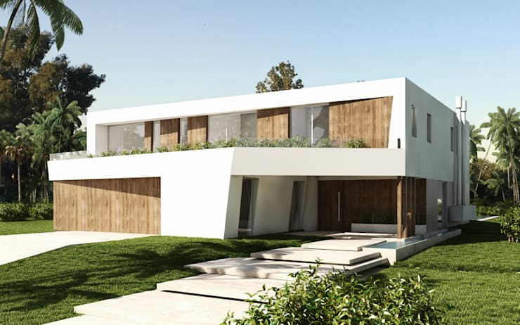 Casa Diagono Casas estilo moderno: ideas, arquitectura e imágenes de Maximiliano Lago Arquitectura - Estudio Azteca Moderno