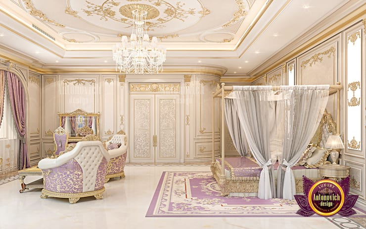 Stunning Luxury Bedroom for a Queen by Luxury Antonovich Design