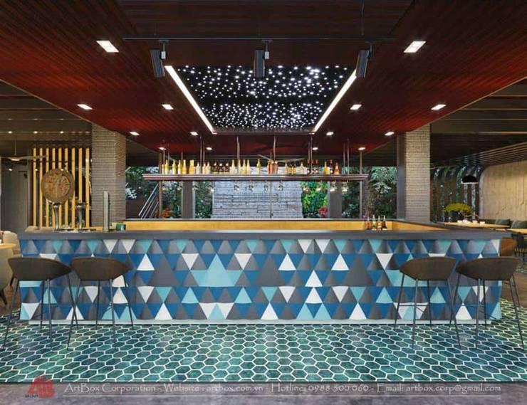 Thiết kế nội thất quán Ecopark Saigon Coffee & Restaurant:  Hành lang by Thiết Kế Nội Thất - ARTBOX,