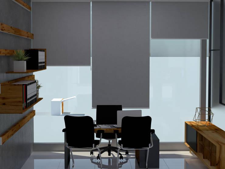 oficina gerencial: Estudio de estilo  por CYNTHIA SALVATIERRA NOA,