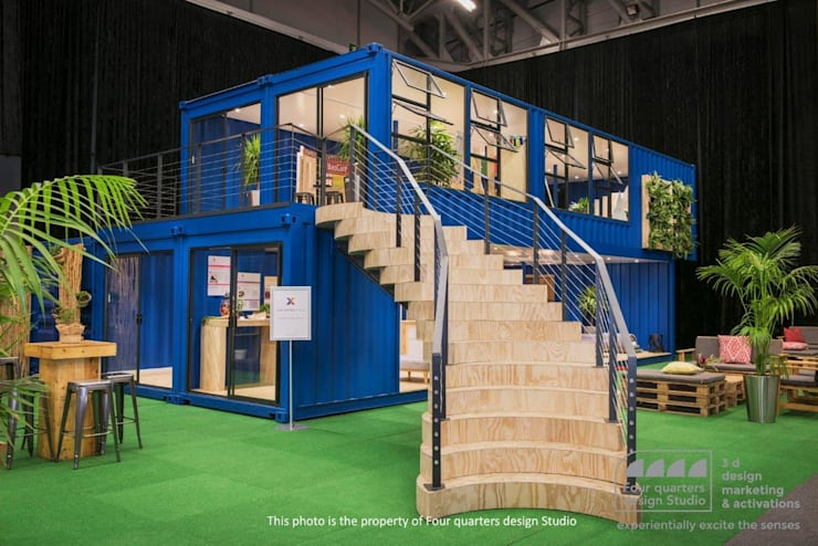 Four Quarters Design - Exhibition Stand :  Exhibition centres by Container Rental and Sales (Pty) Ltd,