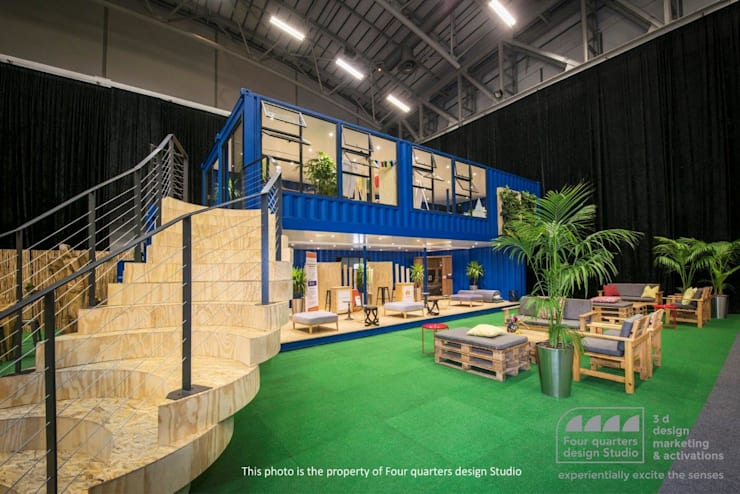 Four Quarters Design—Exhibition Stand :  Exhibition centres by Container Rental and Sales (Pty) Ltd,