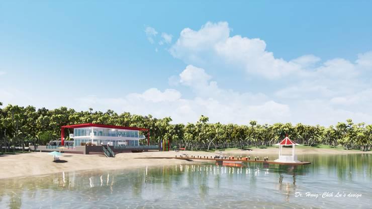 海灘太陽能藝術玻璃別墅:  房子 by 盧博士虛擬實境設計工坊,