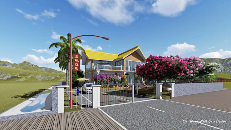 太陽能玻璃別墅之左境莊園:  房子 by 盧博士虛擬實境設計工坊,