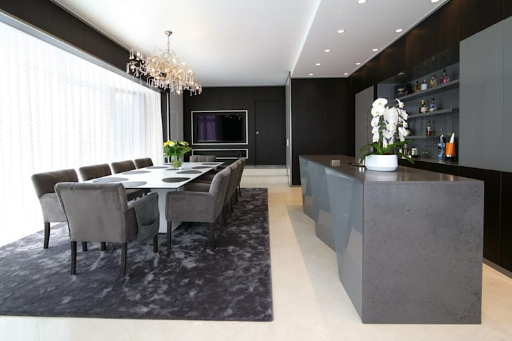 Modern Living Room by marcottestyle Modern Granite