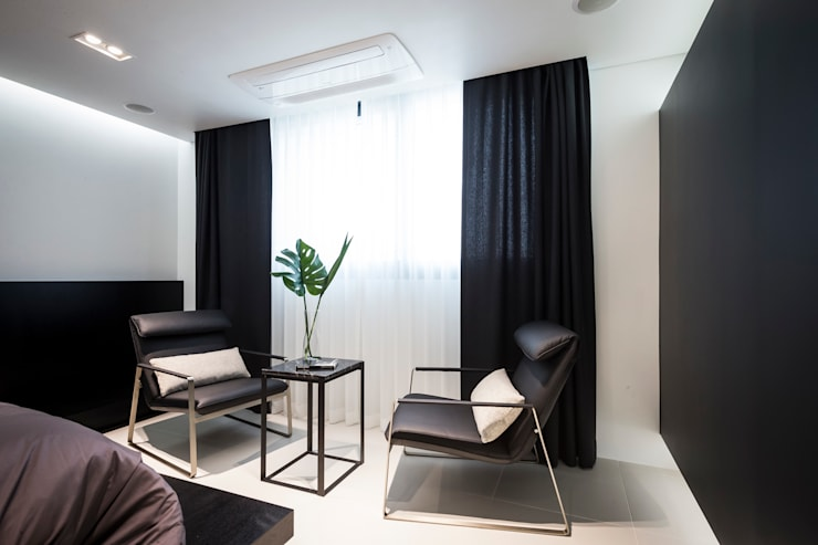 ㅤㅤ: 므나 디자인 스튜디오의  침실,모던