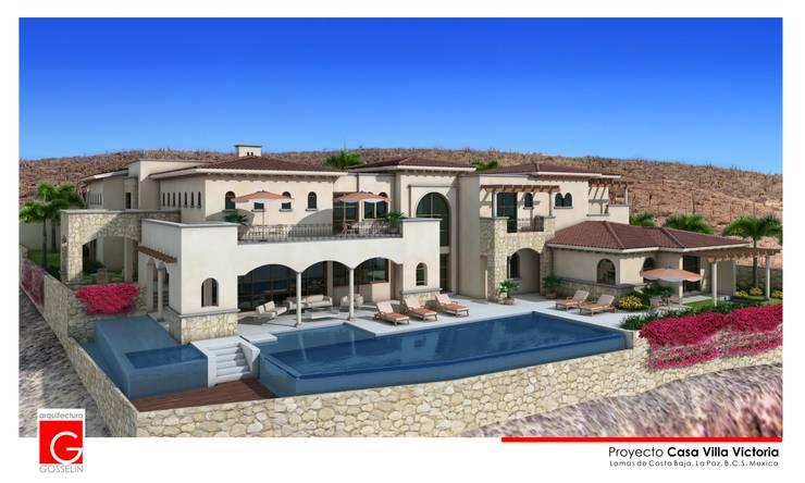 Casas de estilo  de arquitectura GOSSELIN, Mediterráneo
